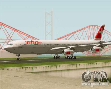 Airbus A340-313 Swiss International Airlines for GTA San Andreas inner view