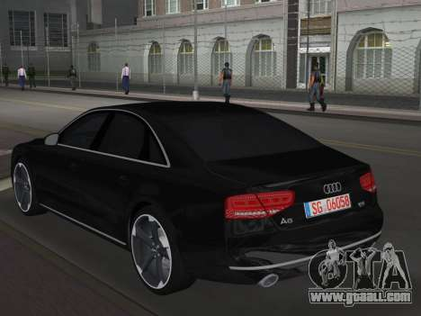 Audi A8 2010 W12 Rim6 for GTA Vice City back left view
