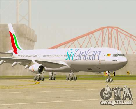 Airbus A340-313 SriLankan Airlines for GTA San Andreas back left view