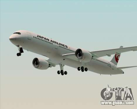 Airbus A350-941 Japan Airlines for GTA San Andreas side view
