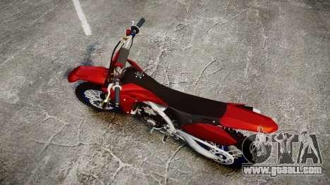 Yamaha YZF-450 Custom for GTA 4 right view
