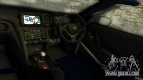 Nissan GT-R SpecV Black Revel for GTA Vice City inner view