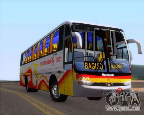 Marcopolo Victory Liner 7001 for GTA San Andreas inner view