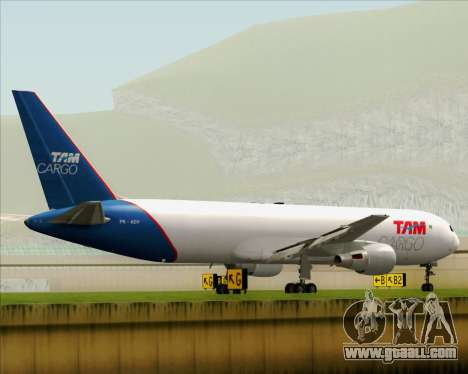 Boeing 767-300ER F TAM Cargo for GTA San Andreas right view