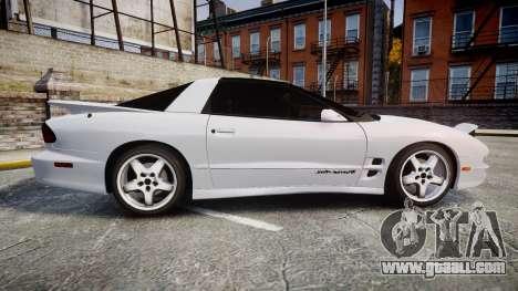 Pontiac Firebird Trans Am 2002 for GTA 4 left view