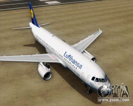 Airbus A320-211 Lufthansa for GTA San Andreas engine