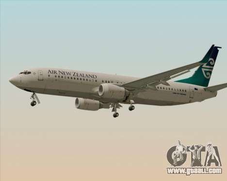 Boeing 737-800 Air New Zealand for GTA San Andreas back left view