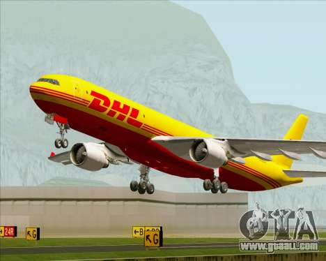 Airbus A330-300P2F DHL for GTA San Andreas engine