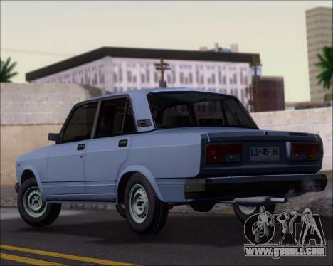 LADA 2107 for GTA San Andreas back left view