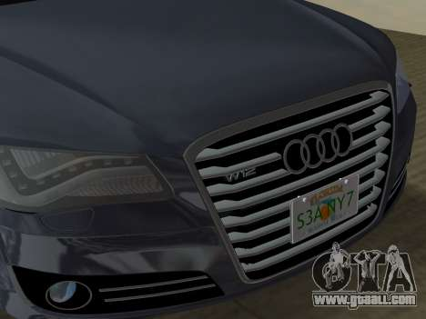 Audi A8 2010 W12 Rim6 for GTA Vice City bottom view
