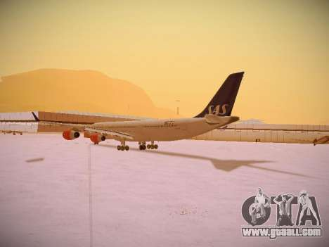 Airbus A340-300 Scandinavian Airlines for GTA San Andreas back left view