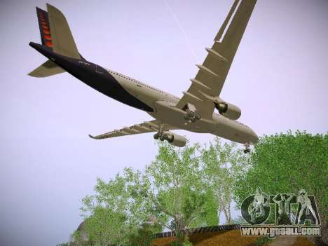 Airbus A330-300 Brussels Airlines for GTA San Andreas inner view
