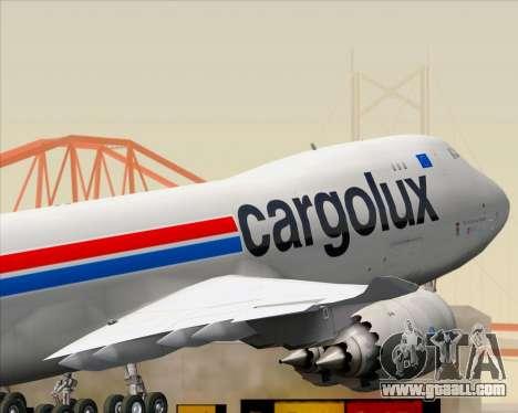 Boeing 747-8 Cargo Cargolux for GTA San Andreas bottom view