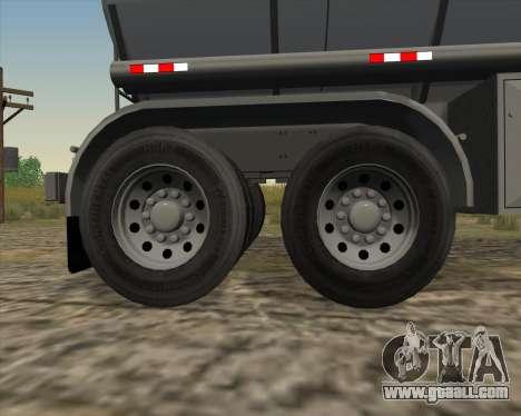 Trailer tank Carro Copec for GTA San Andreas side view