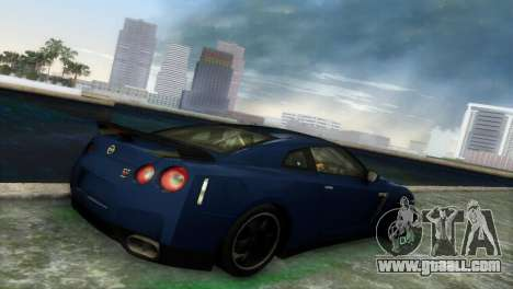 Nissan GT-R SpecV Black Revel for GTA Vice City back view