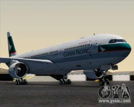 Airbus A330-300 Cathay Pacific for GTA San Andreas interior
