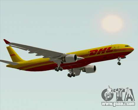 Airbus A330-300P2F DHL for GTA San Andreas upper view