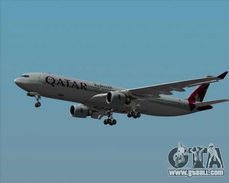 Airbus A330-300 Qatar Airways for GTA San Andreas upper view