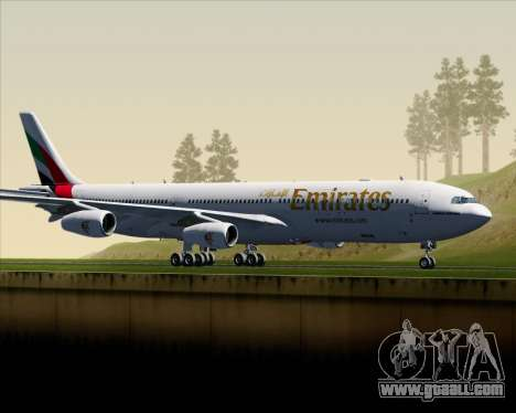 Airbus A340-313 Emirates for GTA San Andreas left view