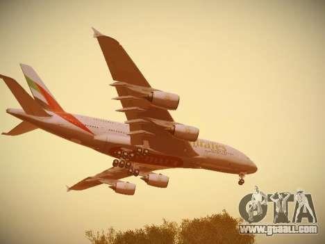 Airbus A380-800 Emirates for GTA San Andreas interior