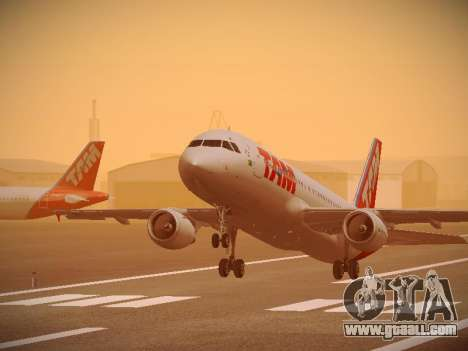 Airbus A320-214 TAM Airlines for GTA San Andreas engine