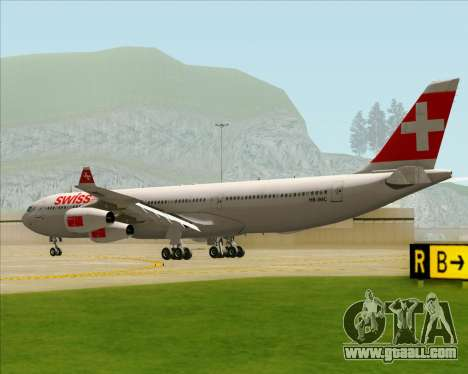 Airbus A340-313 Swiss International Airlines for GTA San Andreas right view