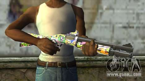Graffiti Shotgun for GTA San Andreas third screenshot