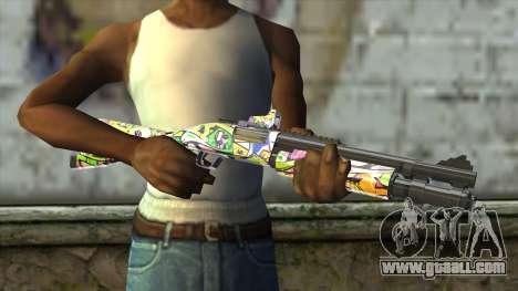 Graffiti Shotgun for GTA San Andreas third screenshot