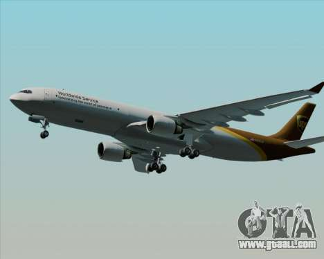 Airbus A330-300P2F UPS Airlines for GTA San Andreas inner view