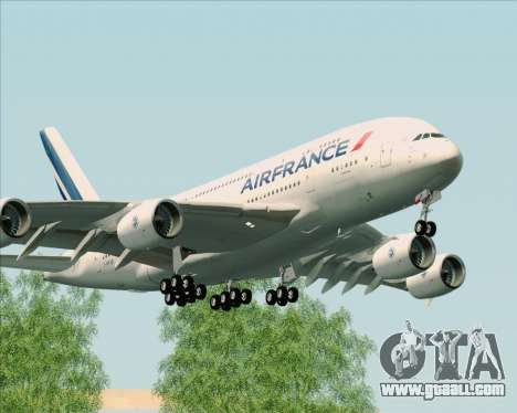 Airbus A380-861 Air France for GTA San Andreas left view