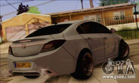 Opel Insignia OPC ATS Cup for GTA San Andreas left view