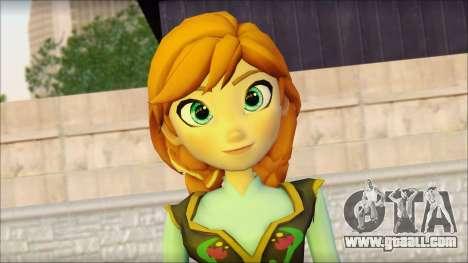 Princess Anna (Frozen) for GTA San Andreas third screenshot
