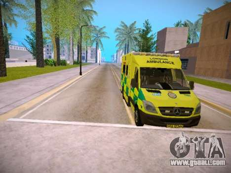 Mercedes-Benz Sprinter London Ambulance for GTA San Andreas upper view