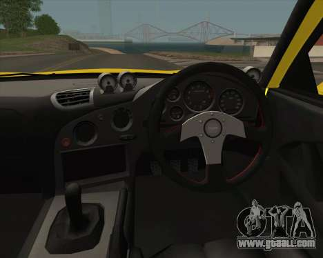 Mazda RX-7 FD3S A-Spec for GTA San Andreas inner view