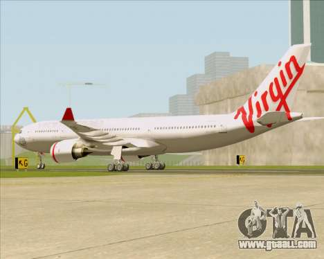 Airbus A330-200 Virgin Australia for GTA San Andreas back left view