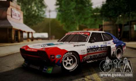 Ford Capri RS Cosworth 1974 Skinpack 4 for GTA San Andreas left view