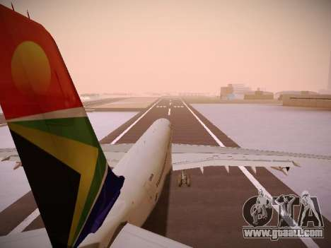 Airbus A340-300 South African Airways for GTA San Andreas wheels