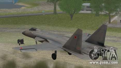 Sukhoi SU-47 Berkut from H.A.W.X. 2 Stealth Skin for GTA San Andreas left view