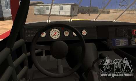 Buick Regal 1983 for GTA San Andreas inner view