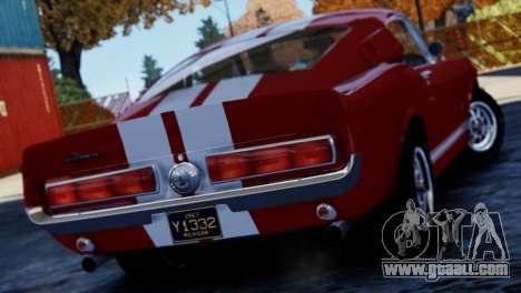 Shelby Cobra GT500 1967 for GTA 4 left view