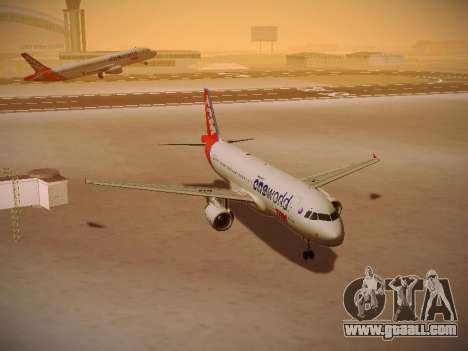 Airbus A320-214 TAM Oneworld for GTA San Andreas back view