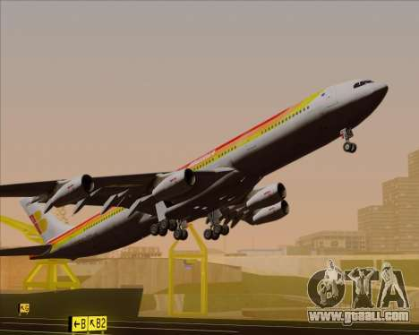 Airbus A340 -313 Iberia for GTA San Andreas upper view