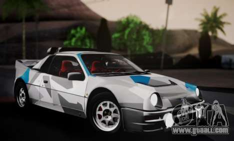 Ford RS200 Evolution 1985 for GTA San Andreas engine