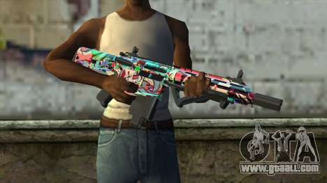 Graffiti Assault rifle v2 for GTA San Andreas third screenshot