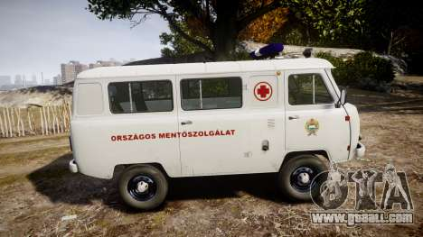 UAZ-39629 ambulance Hungary for GTA 4 left view