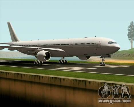 Airbus A330-300 Full White Livery for GTA San Andreas left view