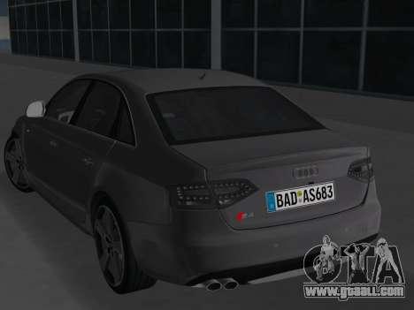 Audi S4 (B8) 2010 - Metallischen for GTA Vice City right view