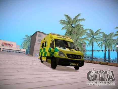 Mercedes-Benz Sprinter London Ambulance for GTA San Andreas left view