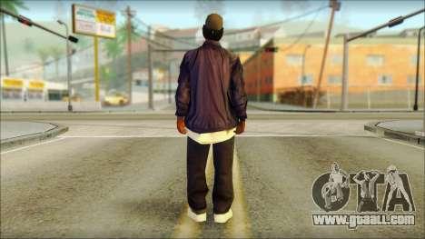 Eazy-E Blue Skin v1 for GTA San Andreas second screenshot