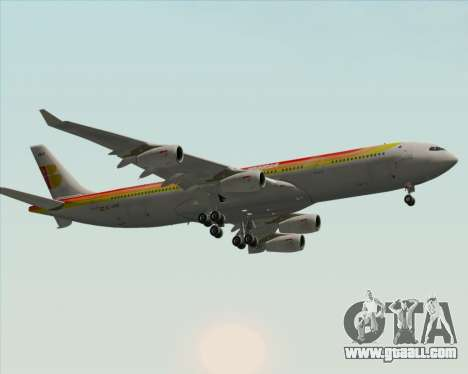 Airbus A340 -313 Iberia for GTA San Andreas inner view